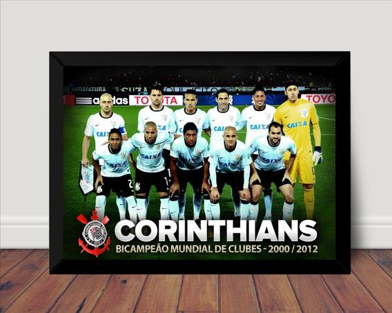 Quadro Corinthians Campeão Mundial Poster Moldurado