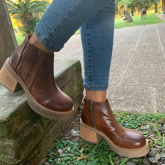 Botas Mujer Zapatos Plataforma Botinetas Dama Invierno Moda 41