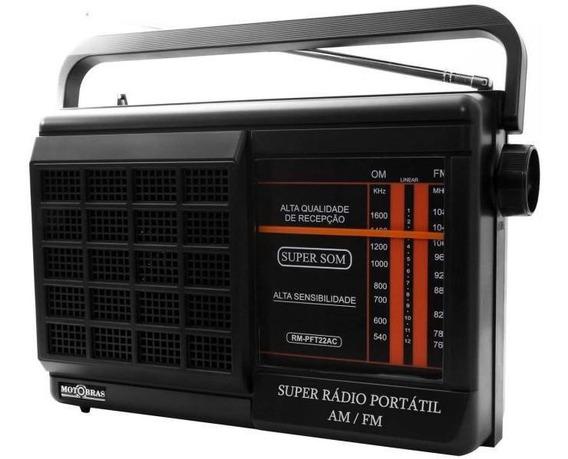 Rádio Portátil Motobrás Rm-pft22ac - Fm/am 2 Faixas Bivol