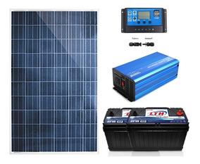 Panel Y Baterias Solares Para Frigobar En Donde No Hay Luz