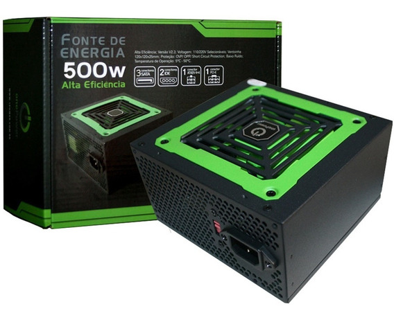 Fonte Atx One Power 500w Bivolt Manual - Mp500w3-1