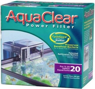 Filtro Cascada Aquaclear 20 Para Acuarios De 18 A 76 Litros