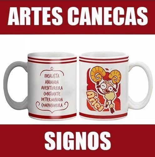 Artes Prontas Signos Canecas + Brinde / Envio Digital