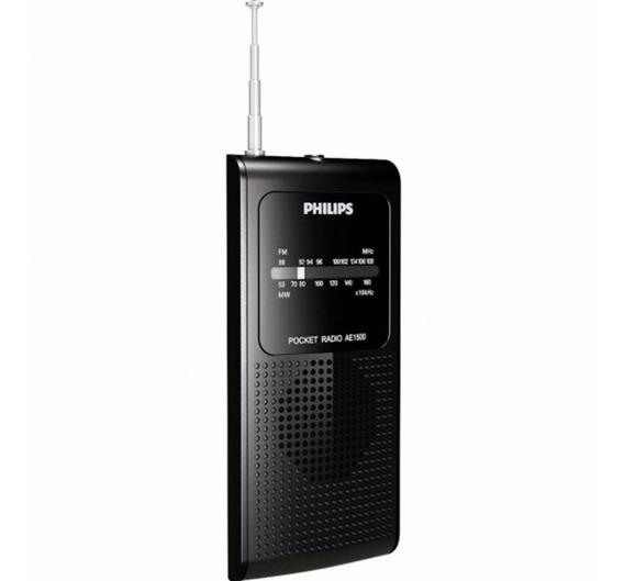 Rádio Philips Portátil Am/fm Ae-1500 P/ Futebol Jogos