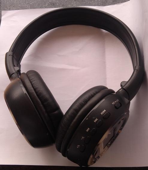 Fone De Ouvido Headphone Sem Fio Cartão Microsd P2 Fm