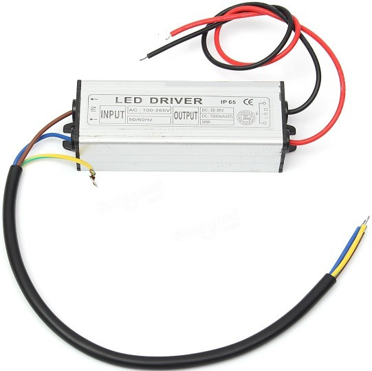 Reator 50w Drive Led Para Reposição De Refletor 100w E 200w