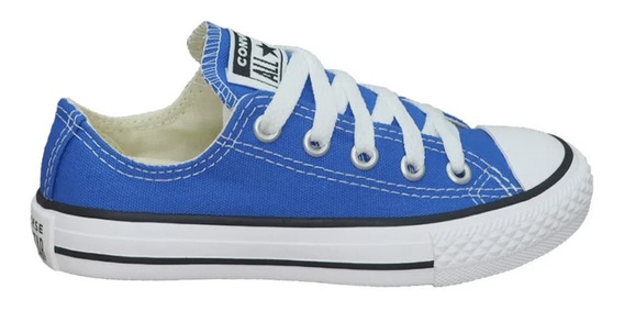 Tênis All Star Converse Infantil Azul Aurora Ck043 -original