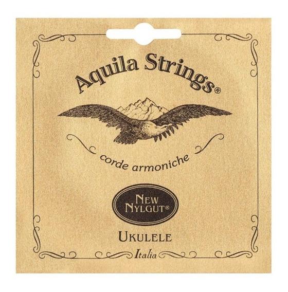 8u Jogo Cordas Ukulele Concert New Nylgut Aquila Italy Low-g