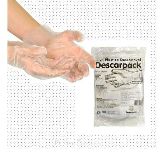 5000 Luvas Plasticas Descartáveis Transparente
