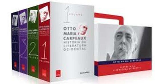 Livro História Da Literatura Ocidental - Caixa Com 4 Volumes