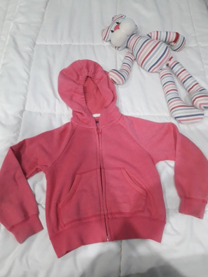 Campera Buzo Rosa Chicle, 5-6 Años. Uniqlo.