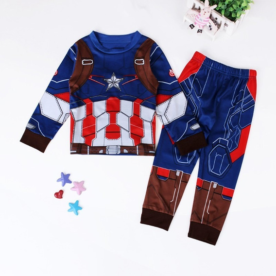 Pijama Infantil Disney - Capitão América