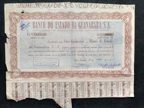 Apólice Letra Hipotecária Do Banco Da Guanabara Ano 1964