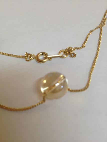 Cristal Swarovski Bola Golden Con Cadena Chapa De Oro 22k