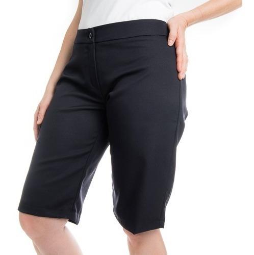 Bermuda Social Feminina Plus Size Kit3