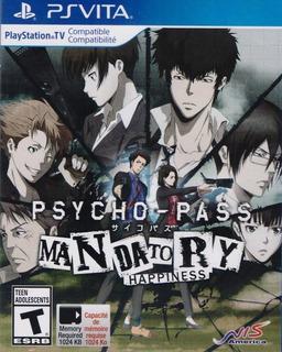Psycho Pass Mandatory Happiness Psvita Juego Nuevo Karzov