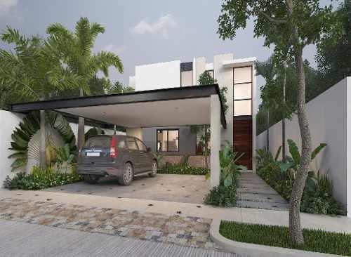 Hermosa Casa En Venta,4 Rec( 1 Rec En Primera Planta), Privada Ya Ax-beh, Conkal,merida,yucatán.