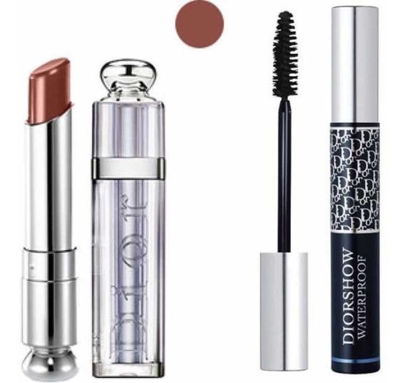 Dior Addict Lipstick 712 Labial + Diorshow Waterproof Negro