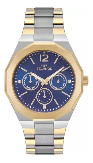 Relógio Feminino Technos 6p29ajd/4a - Prata/dourado