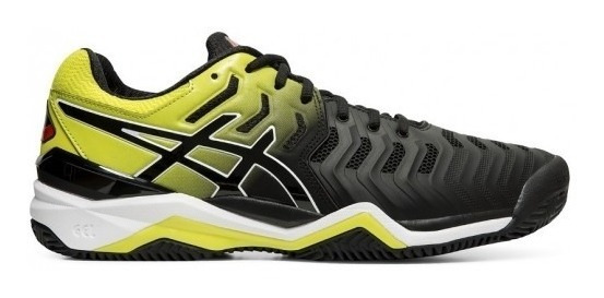 Tênis Asics Gel Resolution 7 Clay - Preto/amarelo