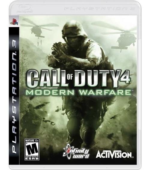 Call Of Duty 4 Modern Warfare Cod - Mídia Física / Ps3