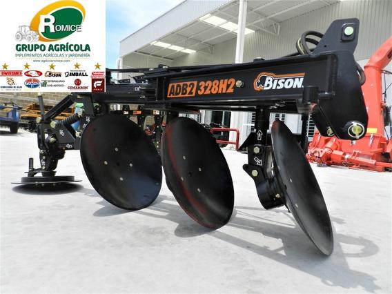 Arado Agricola 3 Discos Hidraulico Marca Bison P Tractor