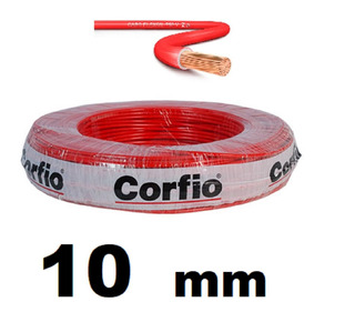 Rolo 100 Metros Cabo Flexivel 10mm Corfio 750v