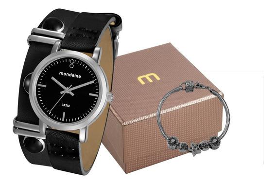 Kit Relógio Feminino Mondaine C/ Pulseira 76644l0mvnh3k2
