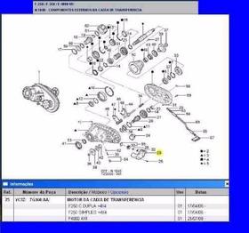 Motor D Caixa Tração Transferência F250 F350 F4000 4x4