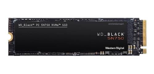 Imagen 1 de 2 de Ssd Wd Black 500gb M.2 Int Nvme Sn750