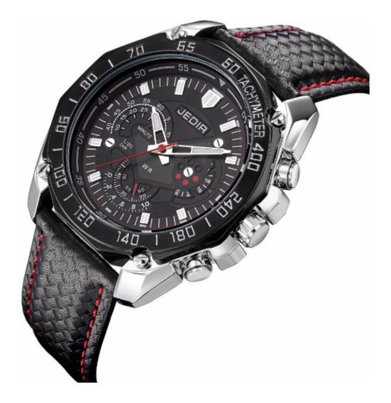 Relógio Esportivo Masculino Jedir 5308 Couro Quartzo Social Elegante - Promoção Imperdível!!
