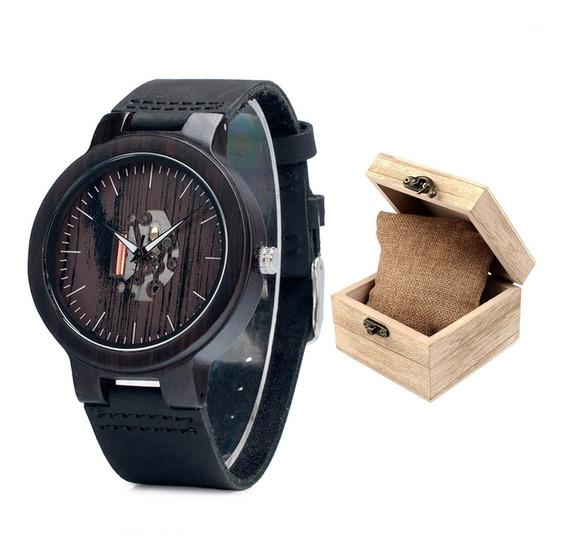 Relógio De Bambu Bobo Bird - Com Caixa De Madeira - Original