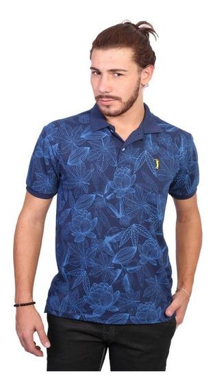 Camisa Polo Golf Club Full Print Marinho