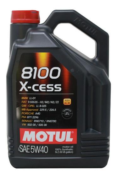 Aceite Motor Sintético 100% 5w40 Motul X-cess 5 Litros