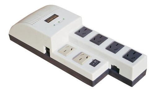 Estabilizador de tensión Atomlux Linea R R1000@ 1000VA entrada y salida de 220V blanco