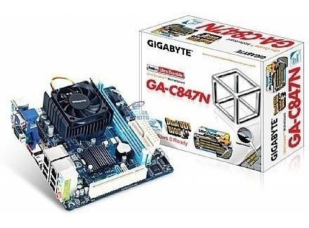 Placa Gigagyte C847n Com Duas Redes E Processador Dual 2 Gb