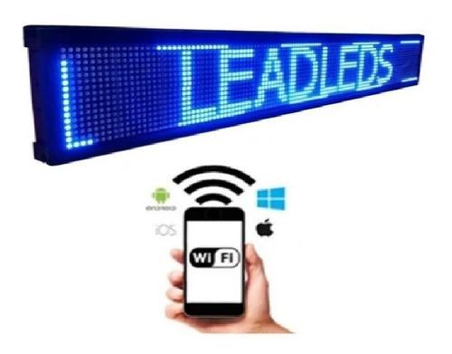 Letrero Led Programable Por Wifi Pasamensajes 500 Caracteres