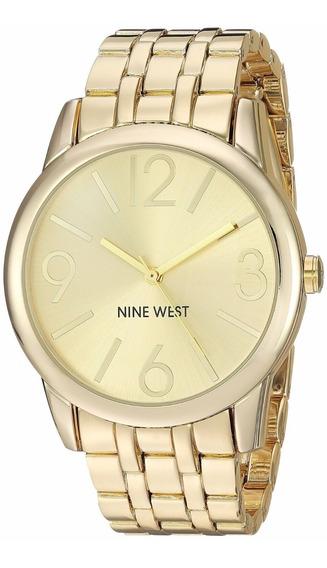 Relógio Nine West Nw1578 Dourado - Novo C/nf