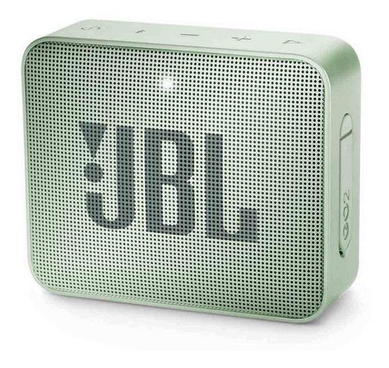 Caixa de som JBL Go 2 portátil sem fio Seafoam mint