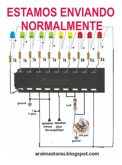 Lm3914- Dip - Vu - Meter - = National - 10 Unidades
