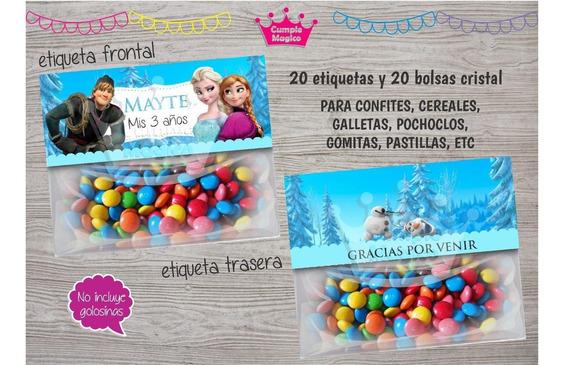 Frozen Etiquetas Cierra Bolsa Para Souvenirs X20 Bag Topper