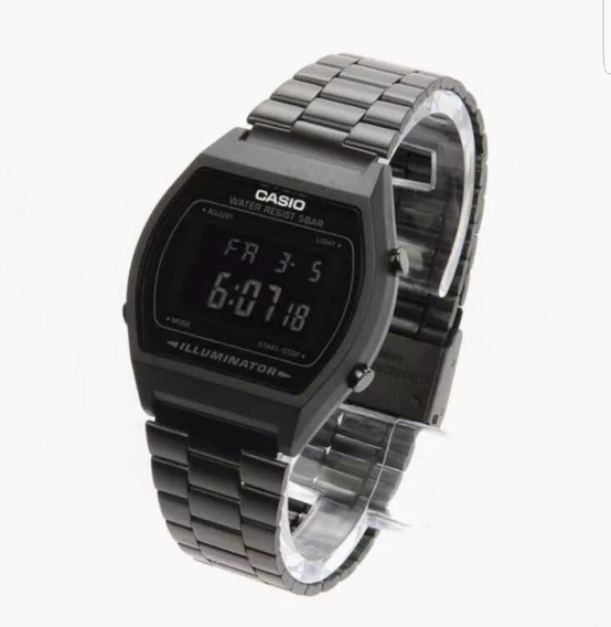 Reloj Negro Mate B640w Vintage Retro Black