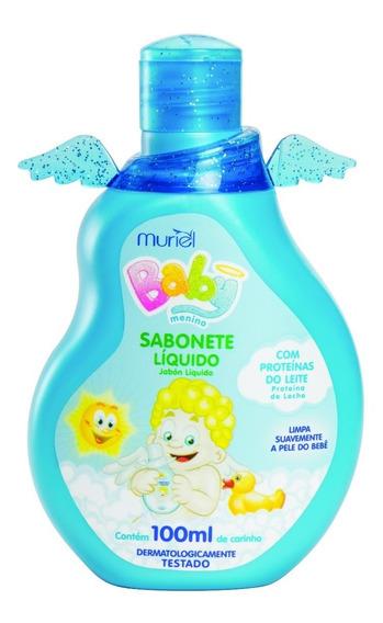 Sabonete Líquido Infantil Para Bebês Muriel Menino 100ml