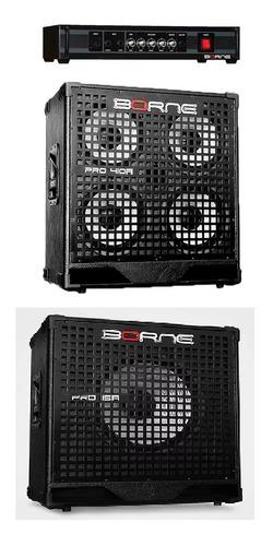 Amplificador Cabeçote Baixo - Pro 500 + Caixas - Borne