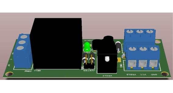 Placa Relé 12v Com Proteção - Sen-j15 Kit 4 Peças