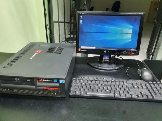 Pc Completo Com Monitor + Teclado + Mouse