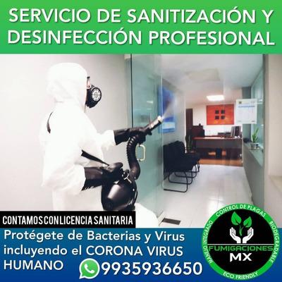 Sanitización Y Desinfección Profesional