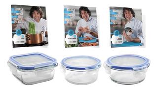 Clarín Colección De Cocina Set 3 De 3 Recipientes Herméticos