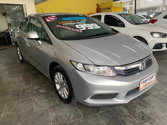 Honda Civic Lxs 1.8 - Flex - Automático - 2014/2015 Completo