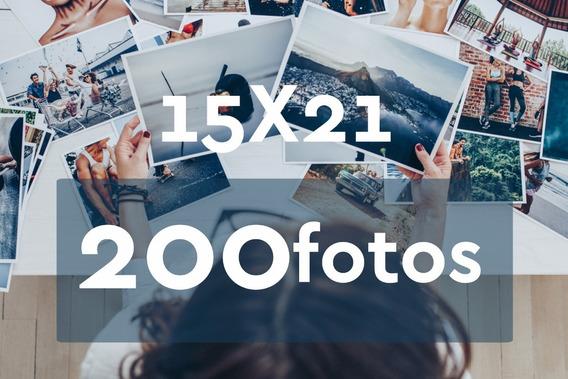 Revelação De Fotos 15x21 - 200 Unid - Grátis 4 Fotos 10x15